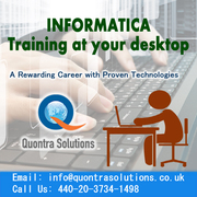 INFORMATICA ONLINE TRAINING BY QUONTRA SOLUTIONS WITH PLACEMENT ASSIST