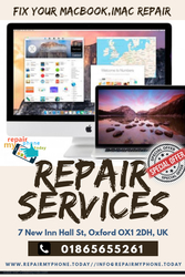 MacBook Screen or Battery Repair Services in Oxford